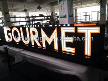 Double side lit stainless steel acrylic face led letters led signs outdoor glow letters for store logo name advertising