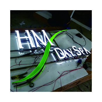 Acrylic face led light channel letters for large store front sign decorative letter lighting sign board for shops