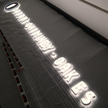 Customized  illuminated edge lit channel letters acrylic mini led snap frame light sign letters