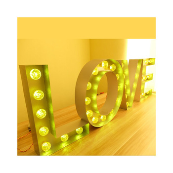 Cheap Price Large Giant big light up letters for wedding Letters To Buy Light Up Signs For Sale