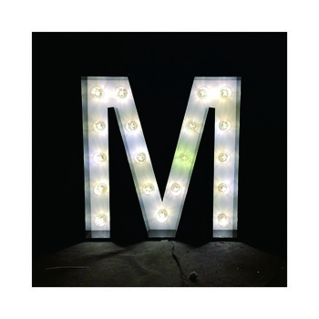 Large Lighted Name Retro Metal letter for Wedding