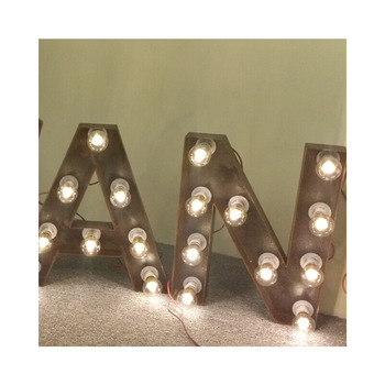 Super bright outdoor waterproof metal acrylic marquee love marquee led letters large alphabet letters signs