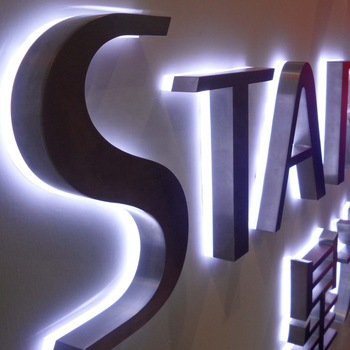 halo lighting fabricated stainless steel letters custom led backlit sign advertising backlit shop sign