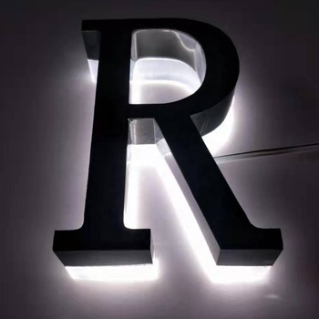 stainless steel backlit signs coroplast letters outdoor led signage