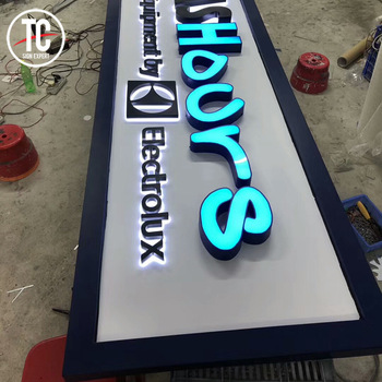 Outdoor Waterproof Acrylic Facelit Letter Sign Led Channel Signs for baber shop Super Market