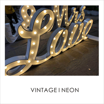 High bright outdoor solar led decorative light 3D led letter waterproof vintage marquee letters