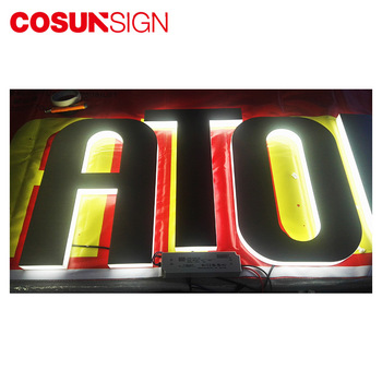 Shenzhen COSUN backlit led light outdoor signage board with Quality Assurance