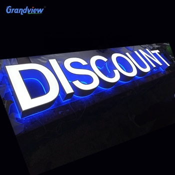 Hot sale for front store stainless steel coated custom led acrylic channel letter sign