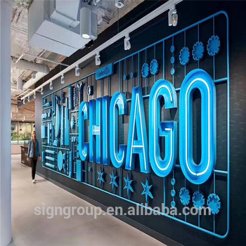 Outdoor led sign shop name board high quality store front acrylic pizza neon light sign