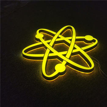 wholesale custom signs small yellow acrylic 3d led sign letters