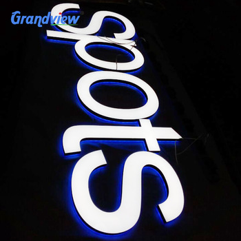 Large letrero shop signboard 3d led writing board led acrylic channel letter sign