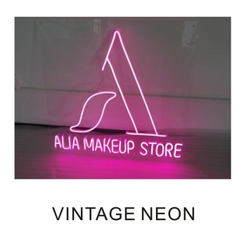 ALIA Makeup store red neon signage with back clearly acrylic board.
