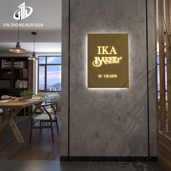 barber laser cutting stainless steel front led letter sign