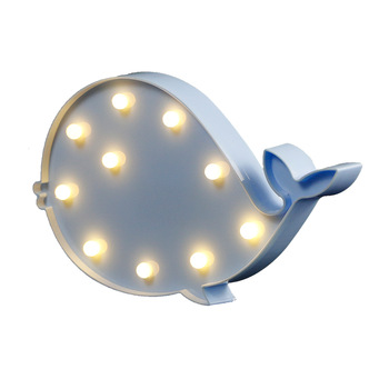 16.5cm whale shape battery letter marquee lights high quality holiday plastic board letter lamp