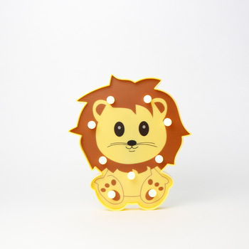 21.5cm lion shape decorative children room table lighting led letter marquee board light acrylic signs
