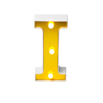 cheap factory price decorative holiday room table lamp I led lights board letter