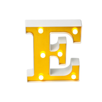 E Shape holiday acrylic led letter board light plastic indoor room light table 3d signs