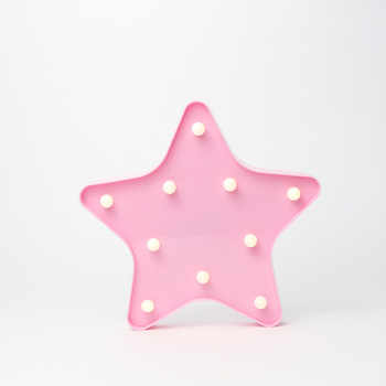 23cm Wholesale Hot Sale battery operated star LED Night Light for holiday party