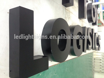 Non-light painted stainless steel metal build up 3D lettering letter box traffic sign board mirror wall letters for logo display