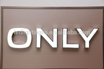 Front face lit LED light up big sign blank plastic sign build up letter with LED in 3 years guarantee