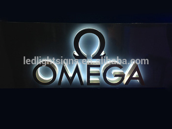 Outdoor backlit Different color stainless steel aluminum led sign different letter cutting lighting sign board for shops name