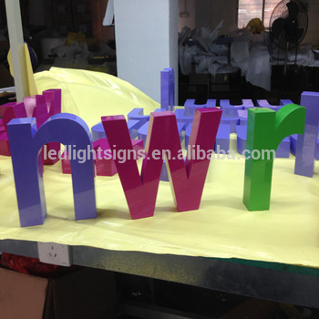 Free standing stainless steel build up channel letters led sign board decorative alphabet letters for shopwindows decorating