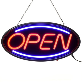 LED Neon Open Sign for Business,Lighted Sign Open with Static and Flashing Modes Indoor Electric Light up Signs for Stores