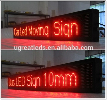 Bus advertisement multi-language high brightness bus led sign for router
