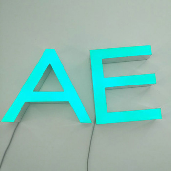 Outdoor 3D small metal wall letters Led luminous lepoxy resin arabic letters