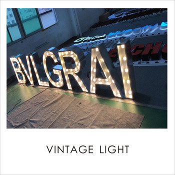 Guangzhou factory marquee wedding led frontlit channel letters giant LOVE letters bulb letter sign