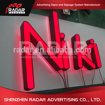 Led backlight for sign board aluminum roll channel letters mini led sign board