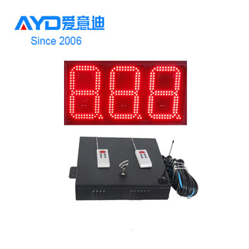 Waterproof Case 8inch 3 digits 888 7 Segment LED Display, LED Gas Price Sign Single Digit LED Board