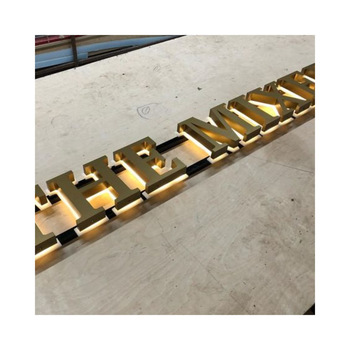 stainless steel alphabet letters metal rose gold letters shop name board designs advertising led sign