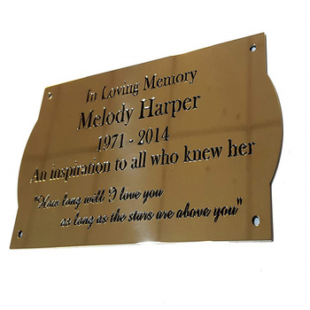 Very good price custom Etched Metal Plaques for mass production
