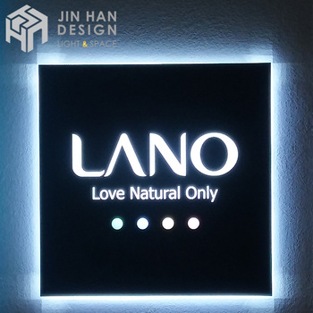 Custom made advertising frontlit led logo sign high quality acrylic sign wall mount