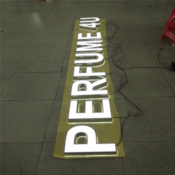 Custom making metal illuminated 3D sign board for industrial parks sign