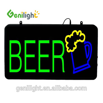 NEW Beer LED Bar Pub Wall Lighted Sign