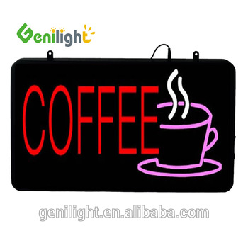 New 12V neon LED Coffee Sign Bright Shop Sign display Board