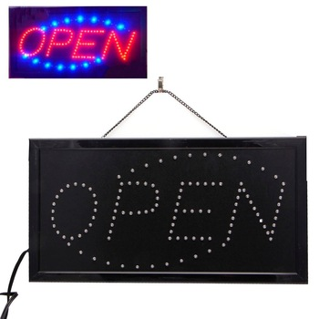 LED store Open sign Logo Advertising Light Board Shopping Mall Bright Animated Motion Neon Business Store Billboard