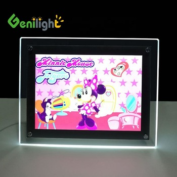 A4 A3 Advertising LED Photo Slim Custom Acrylic Light Box for Poster Display Sign Holder