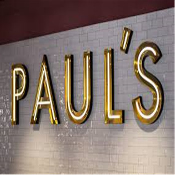 Wall mounted led lighting neon logo for outdoor led retail signs