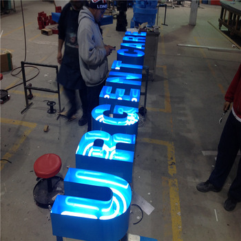 Business advertising led luminous neon letters for BAR front sign