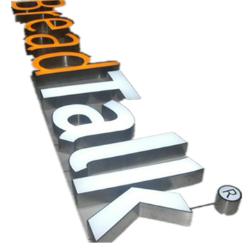 Stainless Steel Light Up Sign Letters Front Lit Waterproof For Shop Sign