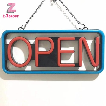 Z-Z Group High Quality High Bright LED Neon Open Board Sign For Shop Store Customize Letter