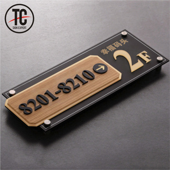 Floor and room direction 3d acrylic numbers plate