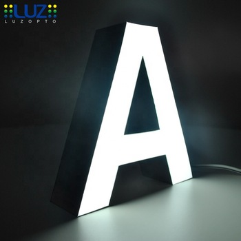 advertising sign boards outdoor metal 4ft led letters