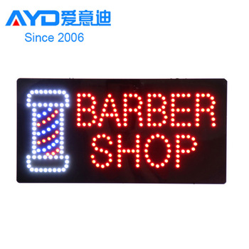 High Quality LED Acrylic Sign Barber Shop Sign Board