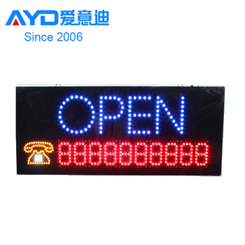 2017 Neon Sign OPEN, LED business open sign advertisement board Electric Display Sign, for business, walls, window, shop, bar, h