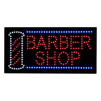Ultra Bright Hanging Led Barber Shop Hair Salon Hair Cut Open Light Panel Sign Board Display for Business Shop Store Window