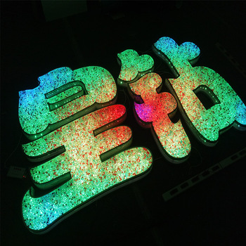 custom electric RGB full color double sided bar sign charm banner wifi bluetooth control